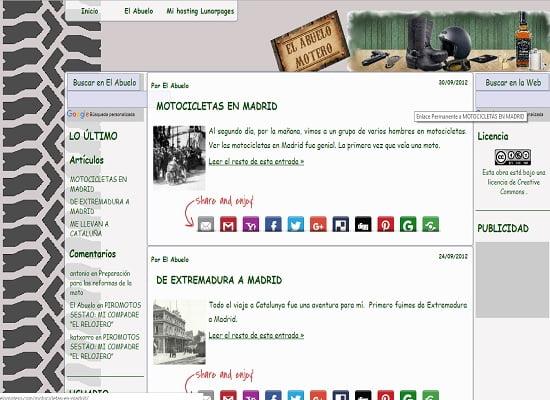 El Abuelo Motero - blog personal